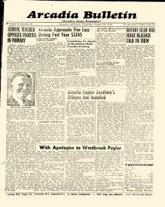 Arcadia Bulletin, August 15, 1940, Page 1