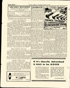 Arcadia Bulletin, September 05, 1940, Page 18