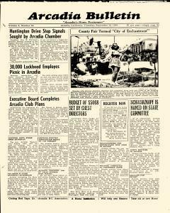 Arcadia Bulletin, September 12, 1940, Page 1