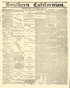 Bakersfield Californian, April 01, 1875, Page 1
