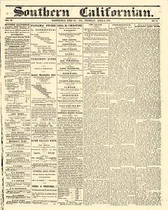 Bakersfield Californian, April 08, 1875, Page 1