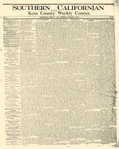 Southern Californian And Kern Weekly Courier, October 12, 1876, Page 1