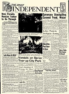 Corona Daily Independent, October 25, 1962, Page 1