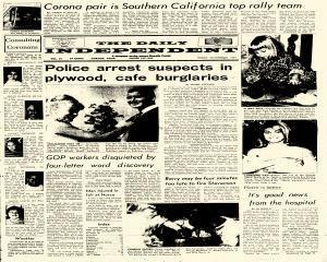 Corona Daily Independent, October 30, 1964, Page 1