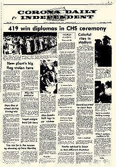 Corona Daily Independent, June 16, 1972, Page 1