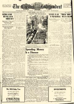 Corona Independent, June 19, 1916, Page 1