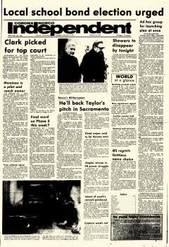 Corona Norco Independent, January 09, 1973, Page 1