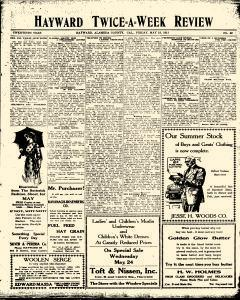 Hayward Twice A Week Review, May 19, 1911, Page 1