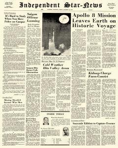 Independent Star News, December 22, 1968, Page 1