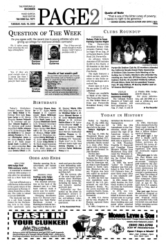 Porterville Reporter, August 18, 2009, Page 2