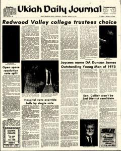 Ukiah Daily Journal, January 24, 1974, Page 1
