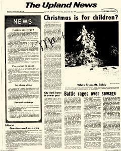 Upland News, December 24, 1970, Page 1