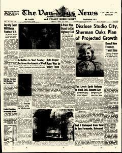 Van Nuys Valley News, April 25, 1969, Page 1
