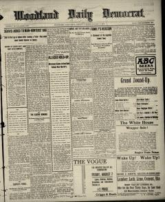 Woodland Daily Democrat, August 07, 1903, Page 1