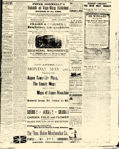Aspen Daily Times, May 15, 1887, Page 3