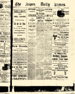 Aspen Daily Times, September 18, 1887, Page 1
