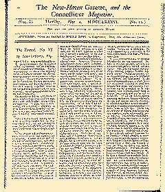 New Haven Gazette, May 04, 1786, Page 1