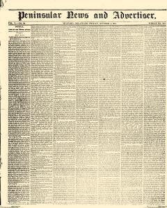 Peninsular News And Advertiser, October 04, 1861, Page 1