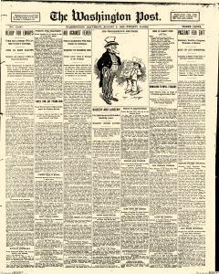 Washington Post, August 05, 1905, Page 1