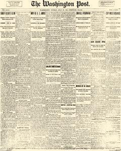 Washington Post, July 20, 1913, Page 1