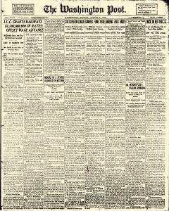 Washington Post, August 01, 1920, Page 1