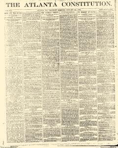 Atlanta Constitution, January 23, 1890, Page 1