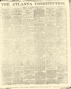 Atlanta Constitution, January 28, 1890, Page 1
