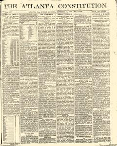Atlanta Constitution, September 15, 1890, Page 1
