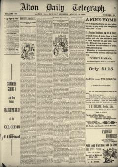 Alton Daily Telegraph, August 06, 1888, Page 1