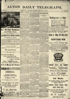 Alton Daily Telegraph, January 28, 1890, Page 1