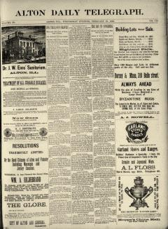 Alton Daily Telegraph newspaper archives