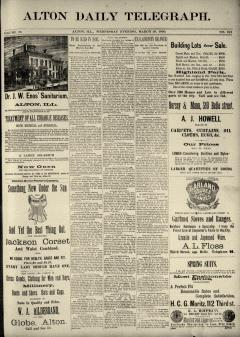 Alton Daily Telegraph, March 26, 1890, Page 1