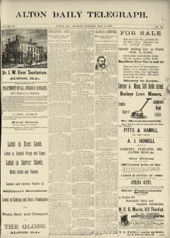 Alton Daily Telegraph, May 05, 1890, Page 1
