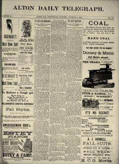 Alton Daily Telegraph, October 08, 1890, Page 1