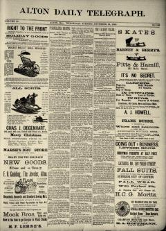 Alton Daily Telegraph, December 24, 1890, Page 1