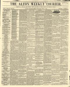 Alton Weekly Courier newspaper archives