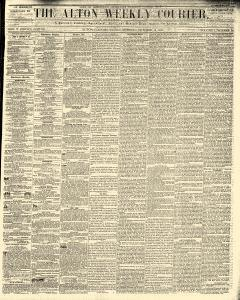 Alton Weekly Courier, October 15, 1852, Page 1