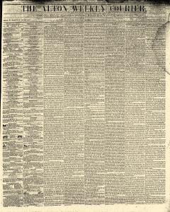Alton Weekly Courier, December 10, 1852, Page 1