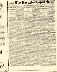 Decatur Herald Despatch, January 22, 1898, Page 1
