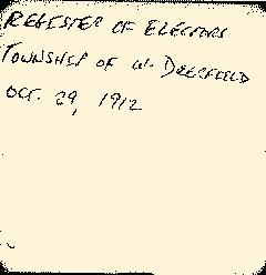 Deerfield Township Voter Registers, October 16, 1912, Page 3
