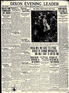 Dixon Evening Leader, January 11, 1918, Page 1
