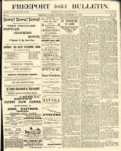 Freeport Daily Bulletin, September 14, 1878, Page 1
