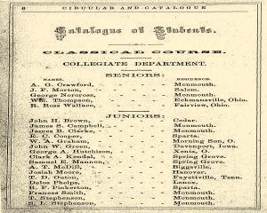 Monmouth College Catalog, June 27, 1861, Page 6