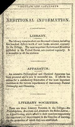 Monmouth College Catalog, June 27, 1861, Page 26