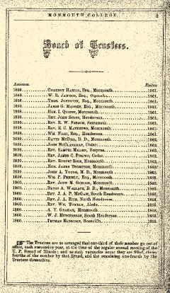 Monmouth College Catalog, June 27, 1861, Page 3