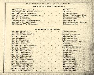Monmouth College Catalog, June 27, 1861, Page 7