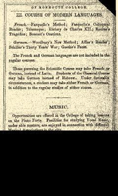 Monmouth College Catalog, June 27, 1861, Page 25