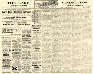 Oak Park Lake Vindicator, February 02, 1884, Page 1