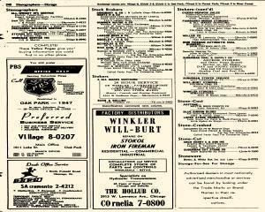 Oak Park Telephone Directory, May 01, 1956, Page 382