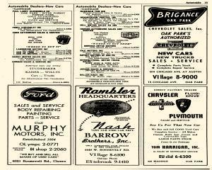Oak Park Telephone Directory, May 01, 1956, Page 155